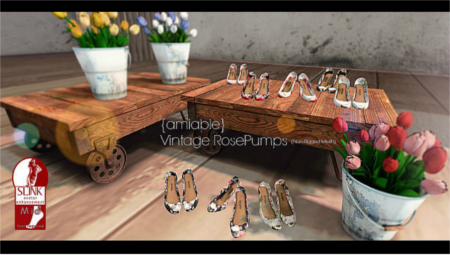 {amiable}Vintage Rose pumps