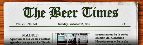 Dominical de noticias sobre cerveza. Pulsa aquí si no te carga para leer el periódico