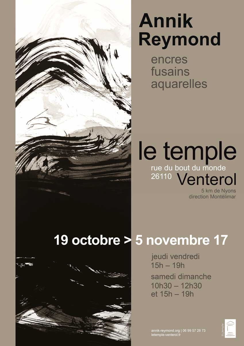 Annik Reymond - exposition Temple Venterol