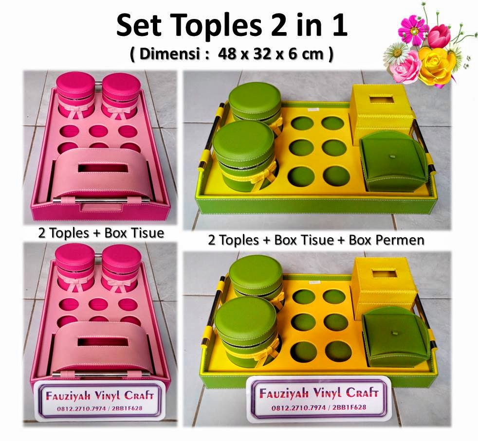 Toples Set Praktis 2 in 1 / Tray Set Toples Isi 2, 6 Tempat Aqua, 1 Tempat Permen, 1 Box Tisue