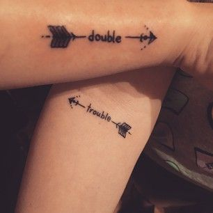 Double and Trouble Matching Tattoos