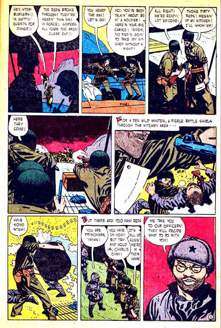 This is War v1 #6 standard comic book page art by Alex Toth