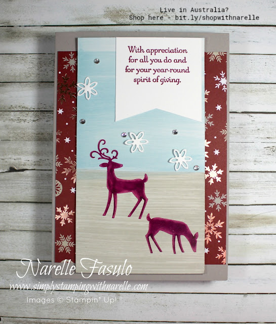 Love nature themed cards for Christmas? Then look no further than the Dashing Deer stamp set and framelits for your card making this Christmas. See it here - http://bit.ly/DashingDeerBundle