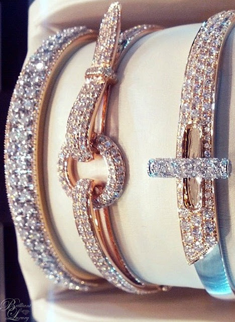 Brilliant Luxury ♦ diamand bangles and bracelets #jewelry
