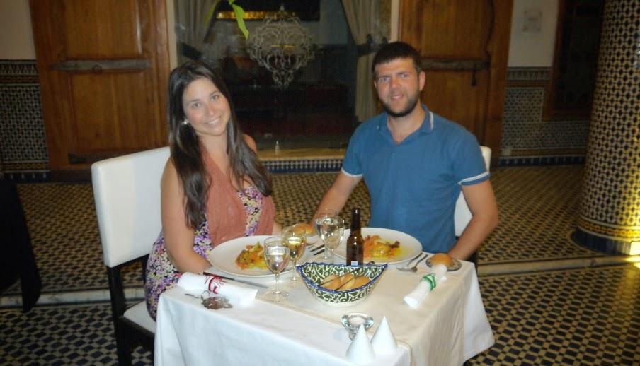 Dining at Palais Amani Fez Morocco