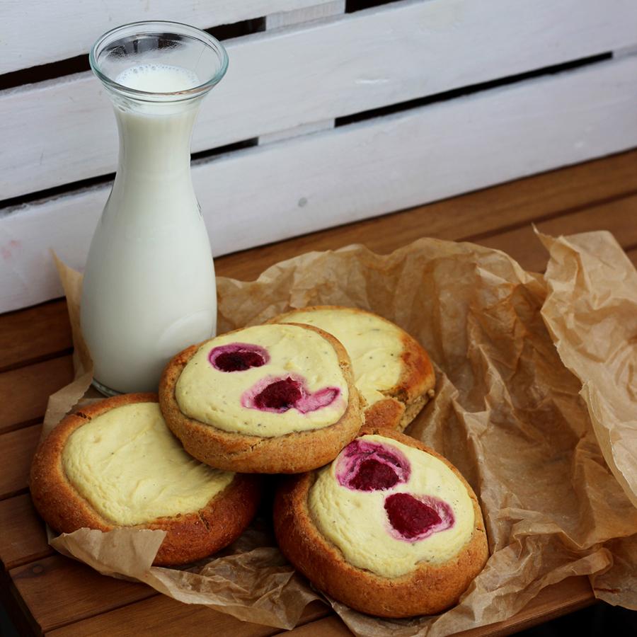 Drożdżówki z serem w wersji fit.