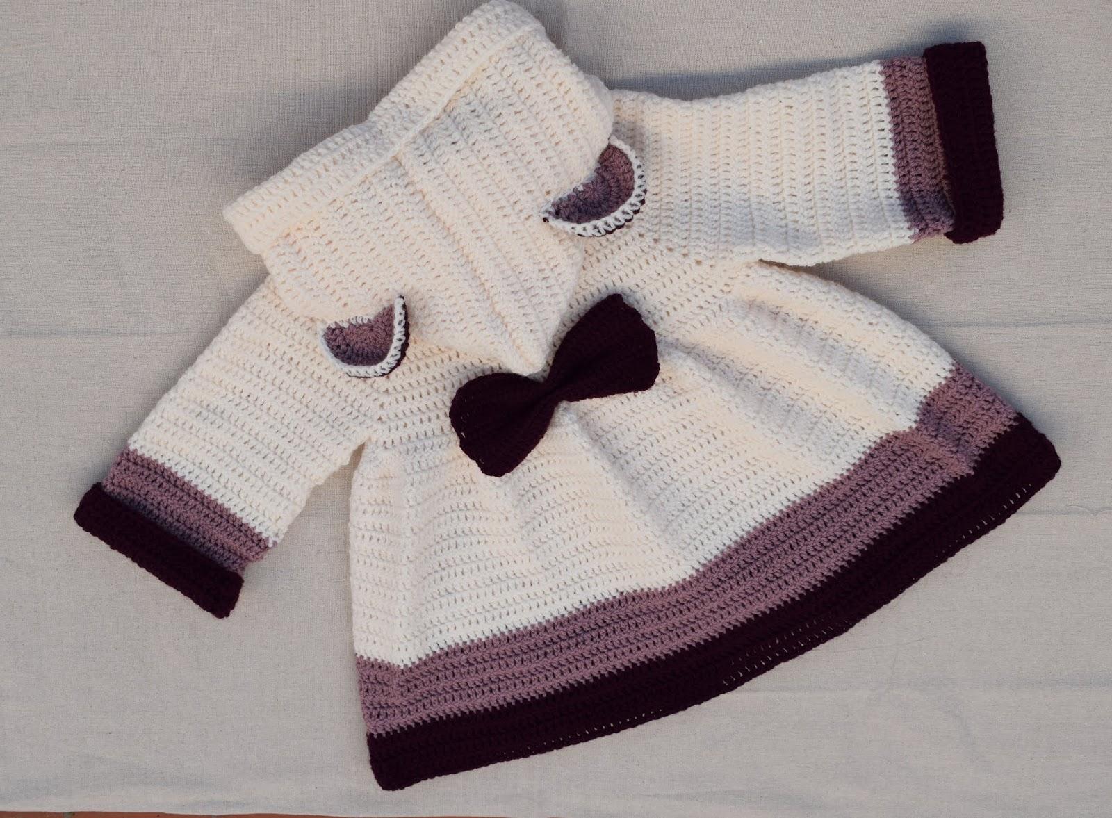 Patron Abrigo de niña a crochet por Majovel crochet