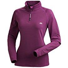 Nordcap Damenfunktionsshirt, Thermo-Sweatshirt mit Stretch in Violett, für Sport & Outdoor-Aktivitäten, Damen Langarm-Shirt (Größe: 39 - 46)
