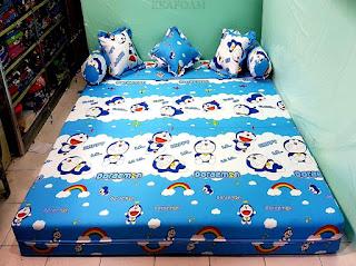 Sofa bed inoac motif NEW DORAEMON posisi kasur