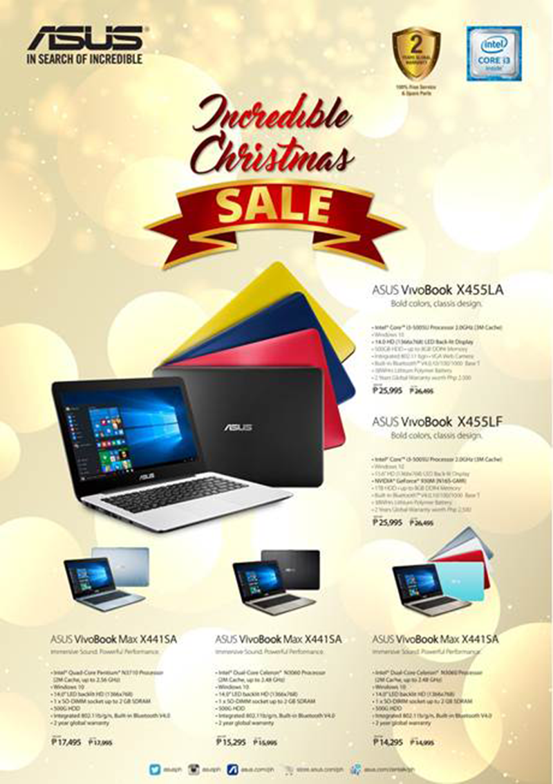 Asus VivoBook Notebooks Christmas 2016 Price Cut Announced!