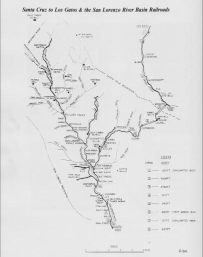 Santa Cruz Trains: Railroads of the Monterey Bay: Maps & Charts on buena park map, clovis map, fresno county map, rockridge map, colton map, hacienda map, san rafael map, san francisco bay area map, downieville map, san tomas map, almaden map, woodside map, piru map, felton map, san jose south map, saratoga map, marin city map, san lorenzo map, san juan bautista map, albany ca map,