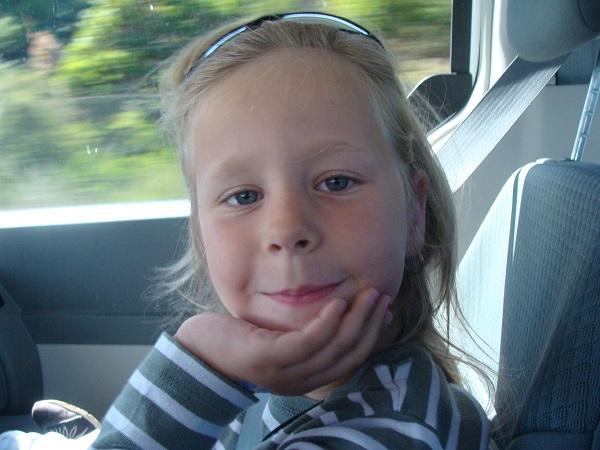 Unsere Tochter während einer Autofahrt 2010 im Westen der USA!