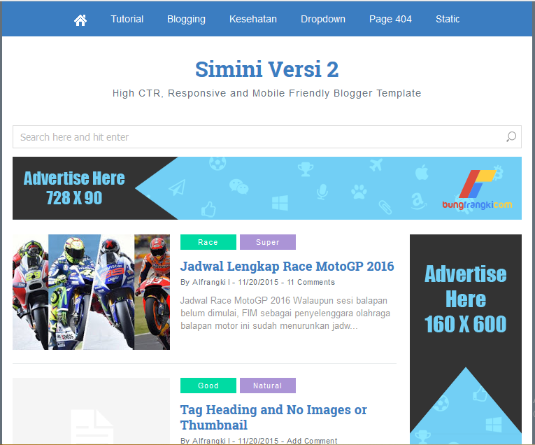 Simini V2 High Ctr Responsive Blogger Template - Softdews
