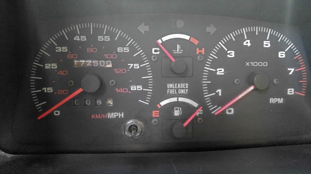 Teal Terror Gauges and Odometer