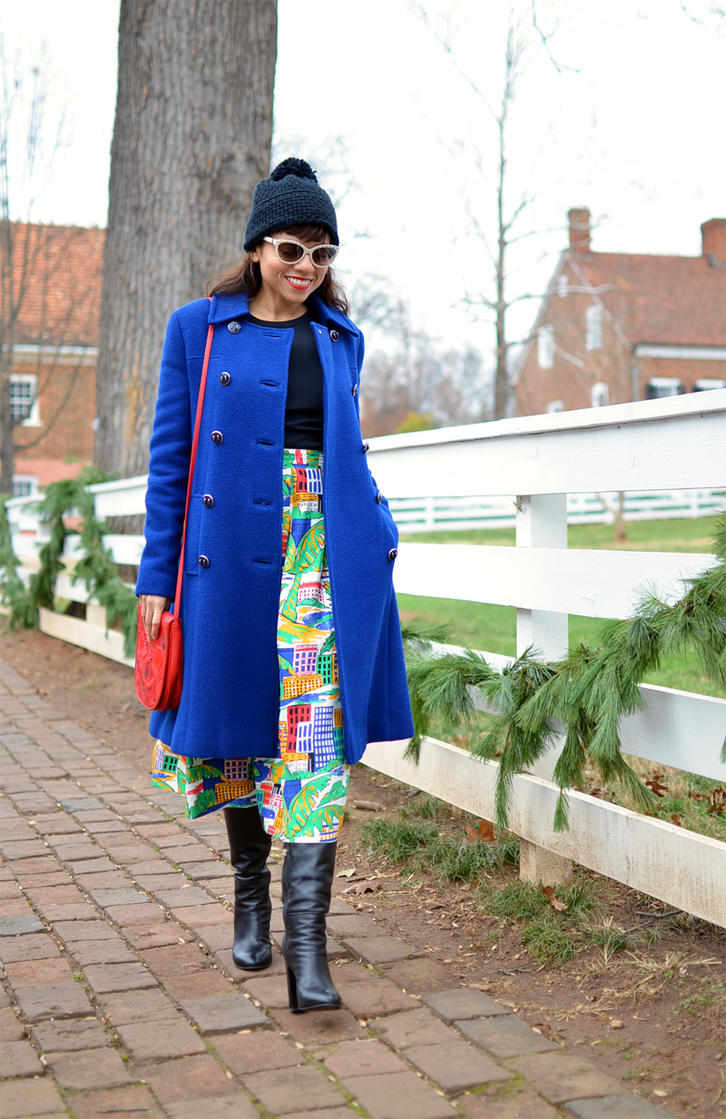 How to dress colorful in Winter