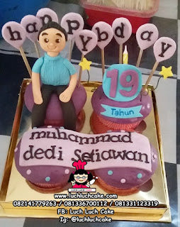 Cupcake Ulang Tahun Sederhana Untuk Cowok