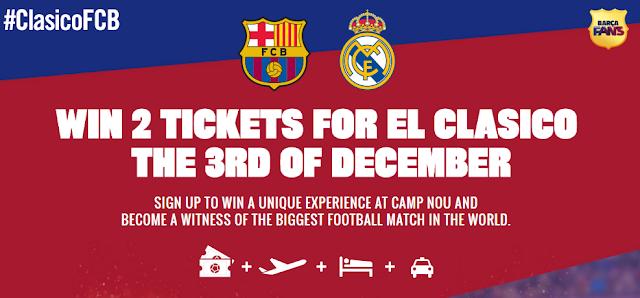 سارع للفوز بتذكرتين لمشاهدة مباراة الكلاسيكو في برشلونة