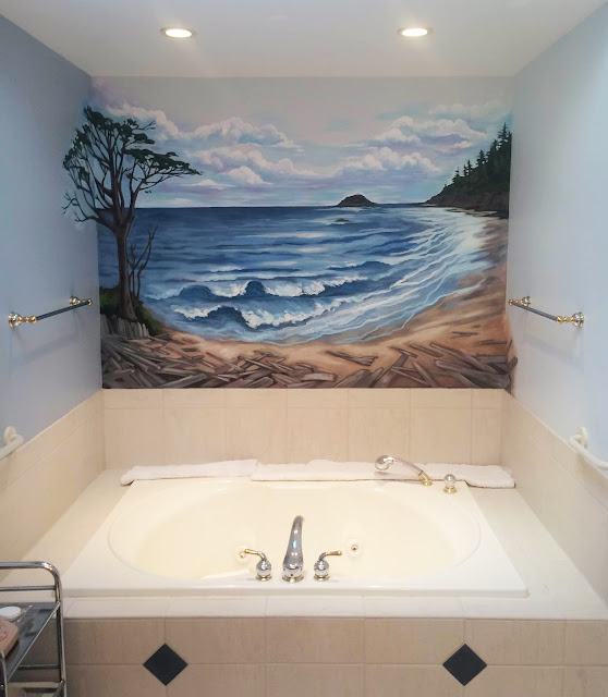 kalaloch beach, kalaloch lodge, ocean mural, pacific ocean mural, oregon coast mural, washington coast mural, pacific northwest mural