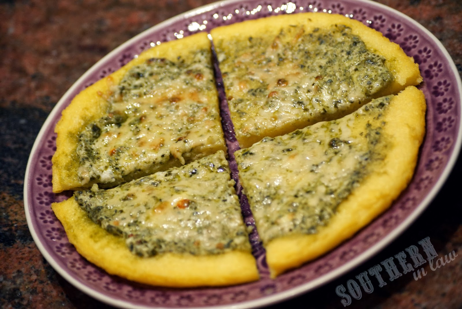 Pesto Polenta Pizza