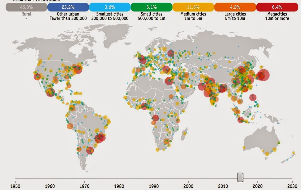 Map Of Asia 1950.Map Of The Week The World S Megacities