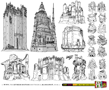 http://studioblinktwice.deviantart.com/art/21-CASTLE-and-FORTRESS-concept-designs-643225349