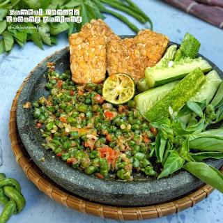 Resep Sambal Pencok Kacang Panjang by @chichiwiranata
