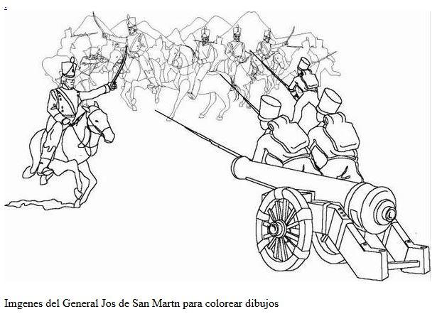 Dibujo de San Martín  batalla para pintar