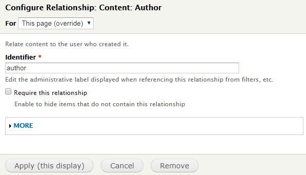Menampilkan Nama Author di Views Drupal