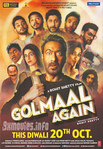 Golmaal Again 2017 Hindi 480p DVDRip 400MB