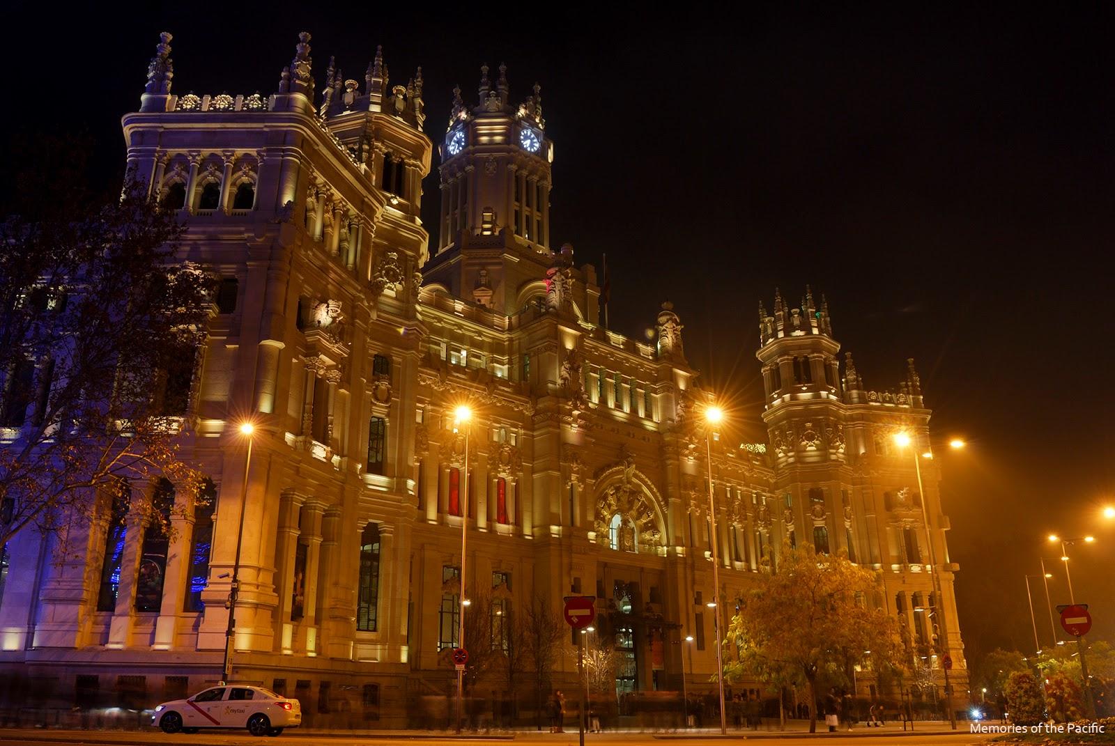 madrid christmas lights alcala cibeles city hall ayuntamiento luces navidad