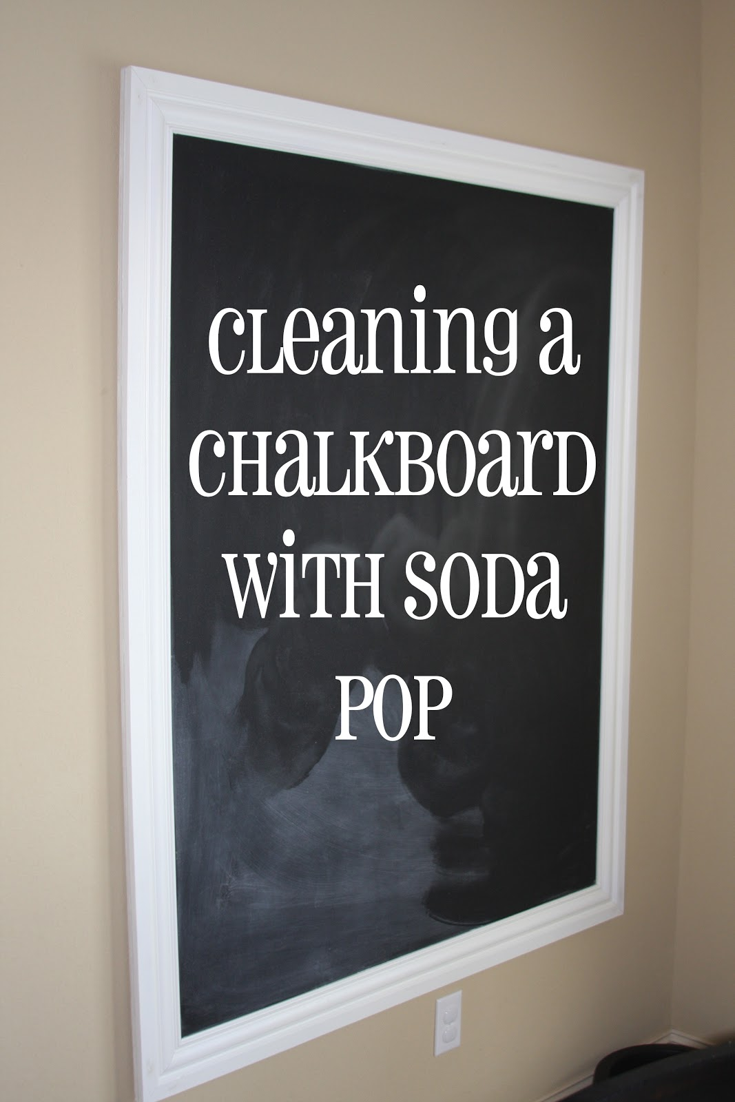 i really should be sleeping how to really clean a chalkboard. Black Bedroom Furniture Sets. Home Design Ideas