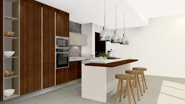 Meridian Interior Design - Windows On The Park, kitchen cabinet