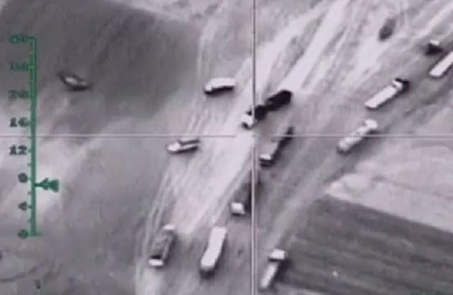 12.000 βυτιοφόρα και φορτηγά καταγράψαν οι Ρώσοι στα σύνορα με το Ιράκ (Vid)