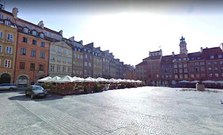 Old Town Market Place is the center of oldest part of the Old Town of Warsaw Capital