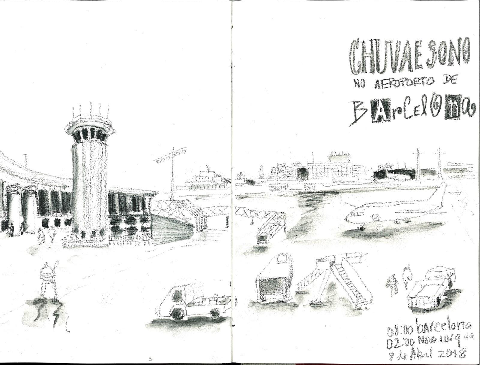 Teresa Ruivo Chuva E Sono No Aeroporto De Barcelona
