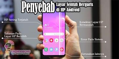 Cara Mengatasi Layar Sentuh HP Android Bergaris Garis