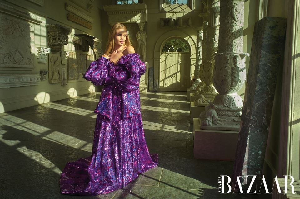 Harpers Bazaar Arabia April 2018 Rosie Huntington-Whiteley by Mariano Vivanco