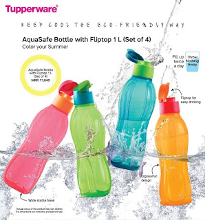 Aquasafe Bottle with Fliptop 1L(Set of 40