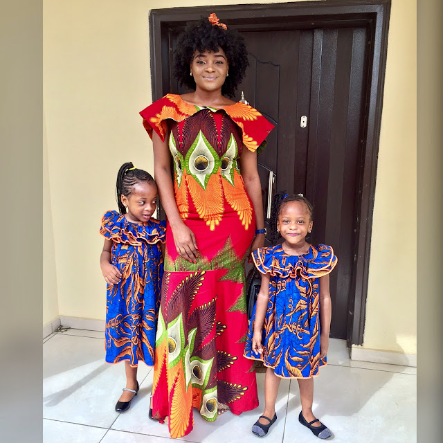 LOOK AT THESE ADORABLE ANKARA STYLES FOR MOTHER AND DAUGHTER