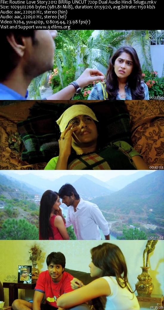 Routine Love Story 2012 BRRip UNCUT 720p Dual Audio Hindi