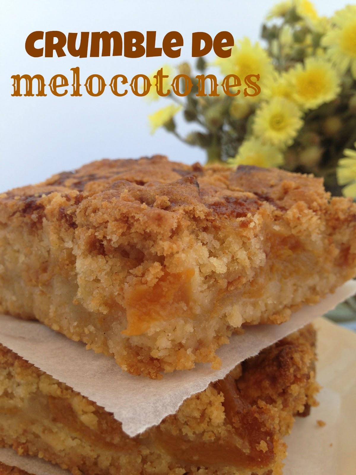 peaches-crumble, crumble-de-melocotones