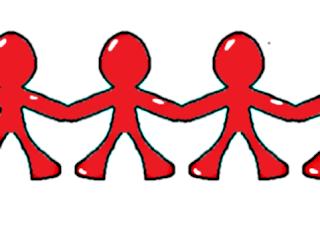 Cara Membuat Orang-Orangan Bergandengan Tangan (Kirigami)