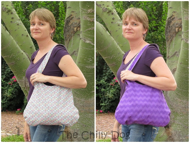 Free Sewing Pattern and Tutorial: How to create a casual, reversible everyday purse that can also be used as a tote bag.