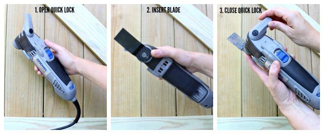 quick lock dremel blade change