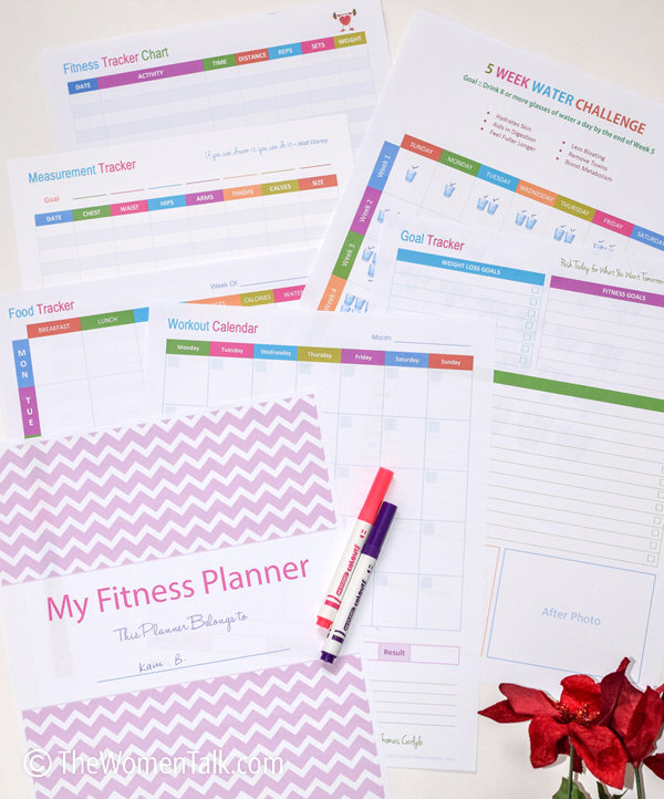 Fitness Planner Track Your Weight Loss and Fitness Goals - DIY