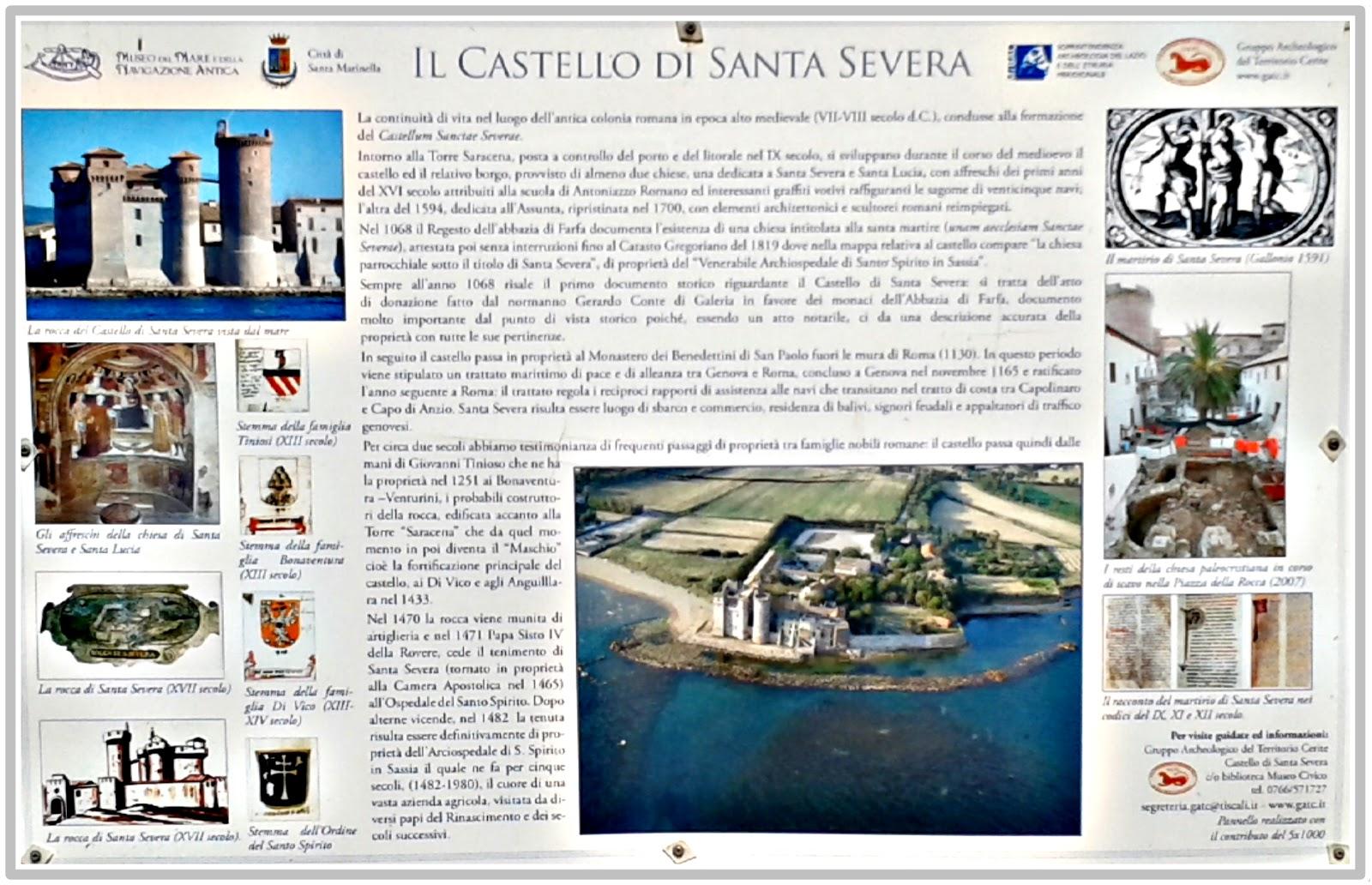 Castello di S. Severa informazioni