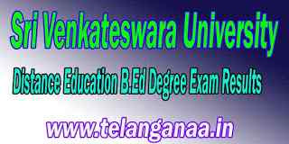 SV University DDE B.Ed Degree Exam Results