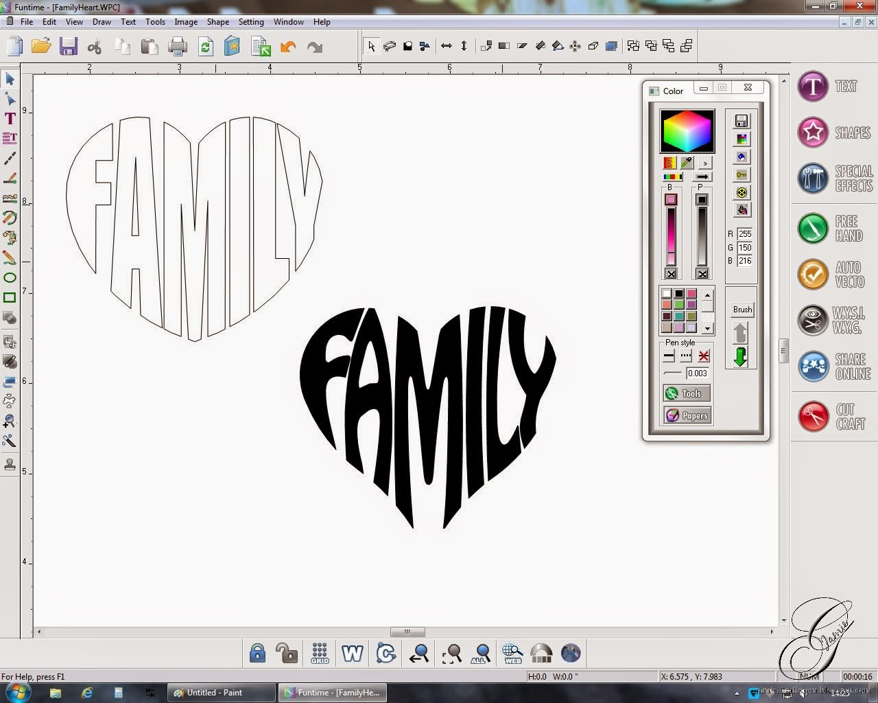 Jamie S Craft Room Putting Words Into A Shape Tutorial