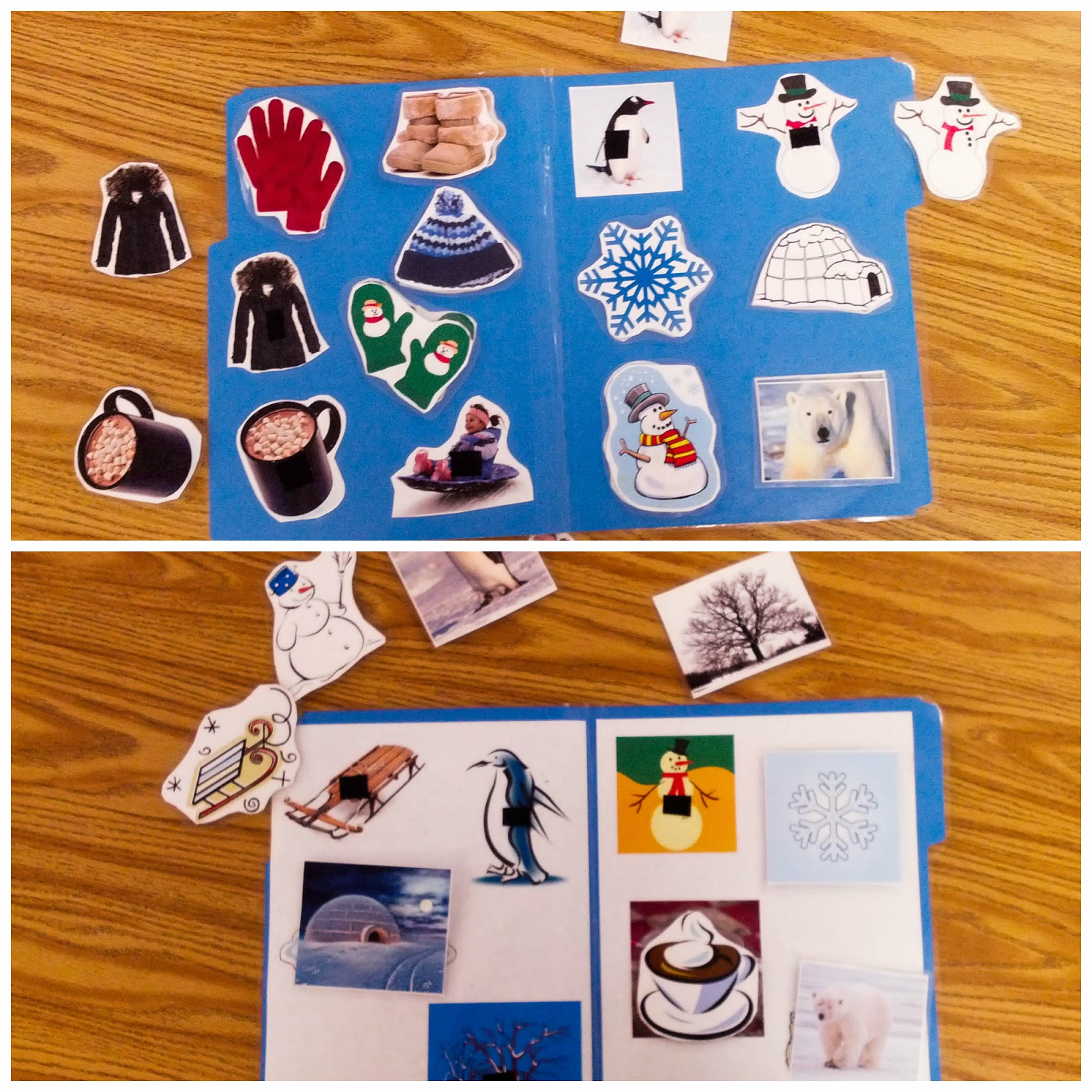Teach Early Autism Winter File Folder Freebie Non Identical And Identical Matching