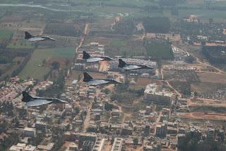 Indian Light Combat Aircraft, LCA Tejas. Formation Flights